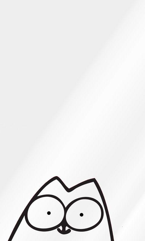 480x800 Wallpaper cartoon, texture, cat