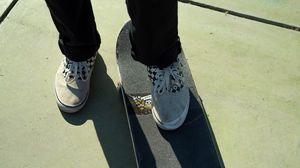 Preview wallpaper skate, legs, sneakers, pants, style