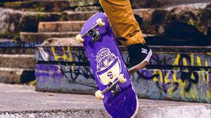 Preview wallpaper skate, skateboarder, skateboarding, street