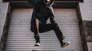 Preview wallpaper skate, skateboarder, skateboarding, mask