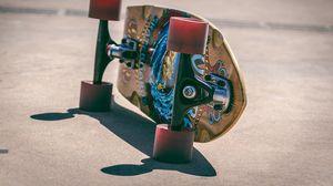 Preview wallpaper skateboard, wheels, board, shadow