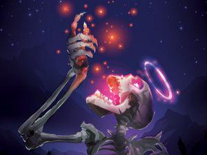 Preview wallpaper skeleton, skull, stars, shine