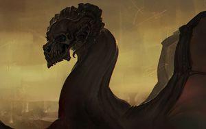 Preview wallpaper skull, art, creature, spooky