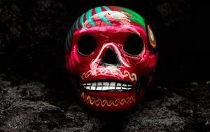 Preview wallpaper skull, art, paint
