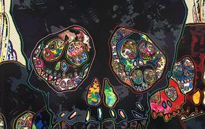 Preview wallpaper skull, art, skulls, colorful