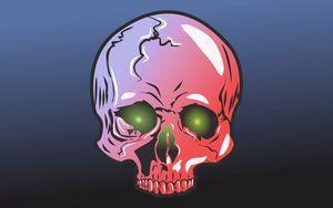 Preview wallpaper skull, art, vector, illustration