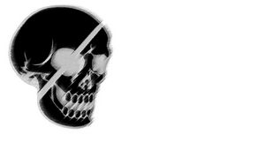 Preview wallpaper skull, black, white, drawing, pirate