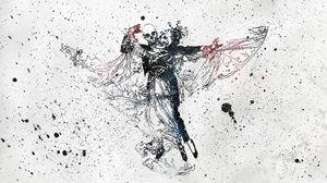 Preview wallpaper skull, dance, movement, paint