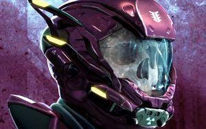 Preview wallpaper skull, helmet, art, robot