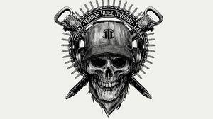 Preview wallpaper skull, helmet, drawing