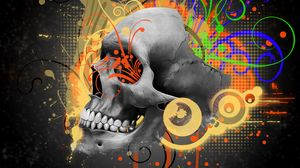 Preview wallpaper skull, pattern, abstraction