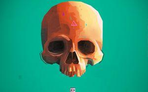 Preview wallpaper skull, skeleton, flash drive, art