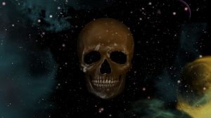 Preview wallpaper skull, sky, point, star, drawing