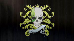 Preview wallpaper skull, symbols, graphics