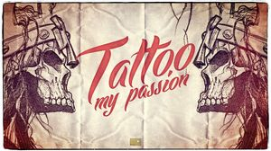 Preview wallpaper skull, tattoo, style, lettering, words