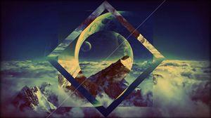 Preview wallpaper sky, background, light, shape, smoke