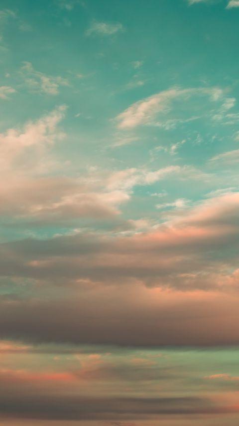 480x854 Wallpaper sky, clouds, atmosphere, horizon