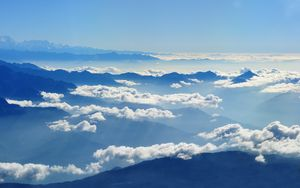 Preview wallpaper sky, clouds, mountains