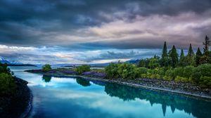 Preview wallpaper sky, nature, river, landscape