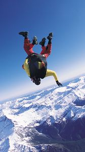 Preview wallpaper skydiver, fly, sky, clouds