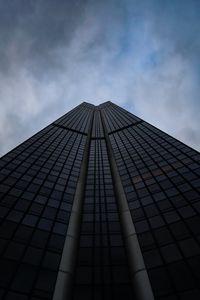 Preview wallpaper skyscraper, building, architecture, sky, bottom view