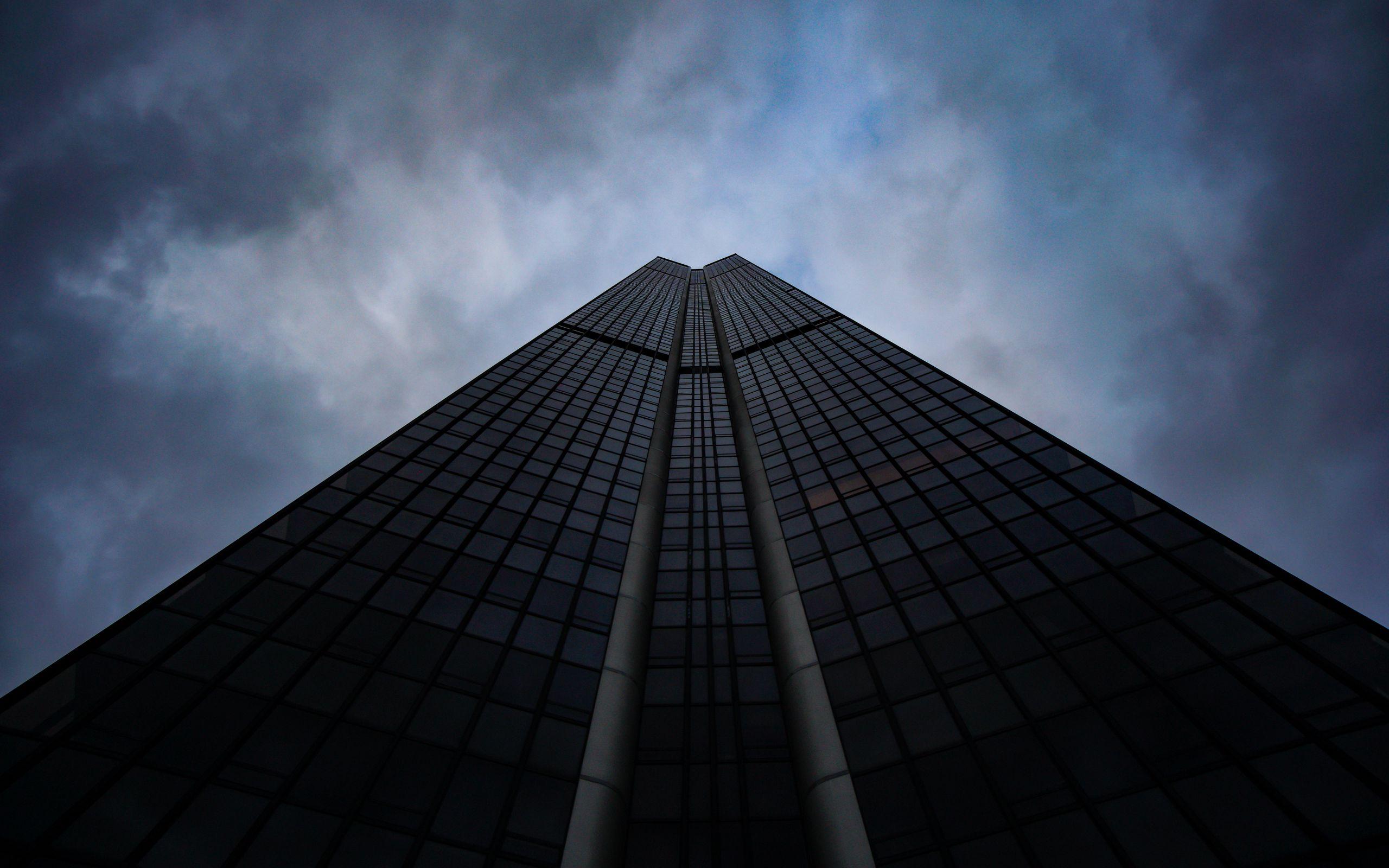 2560x1600 Wallpaper skyscraper, building, architecture, sky, bottom view