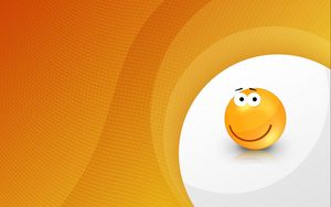 Preview wallpaper smile, emotion, yellow, vector