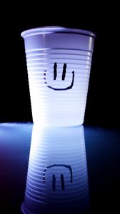 Preview wallpaper smile, glass, happiness