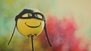 Preview wallpaper smile, helmet, glasses, cool