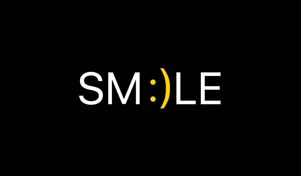 1024x600 Wallpaper smile, positive, word, cheerful