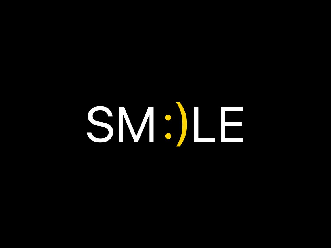 1152x864 Wallpaper smile, positive, word, cheerful