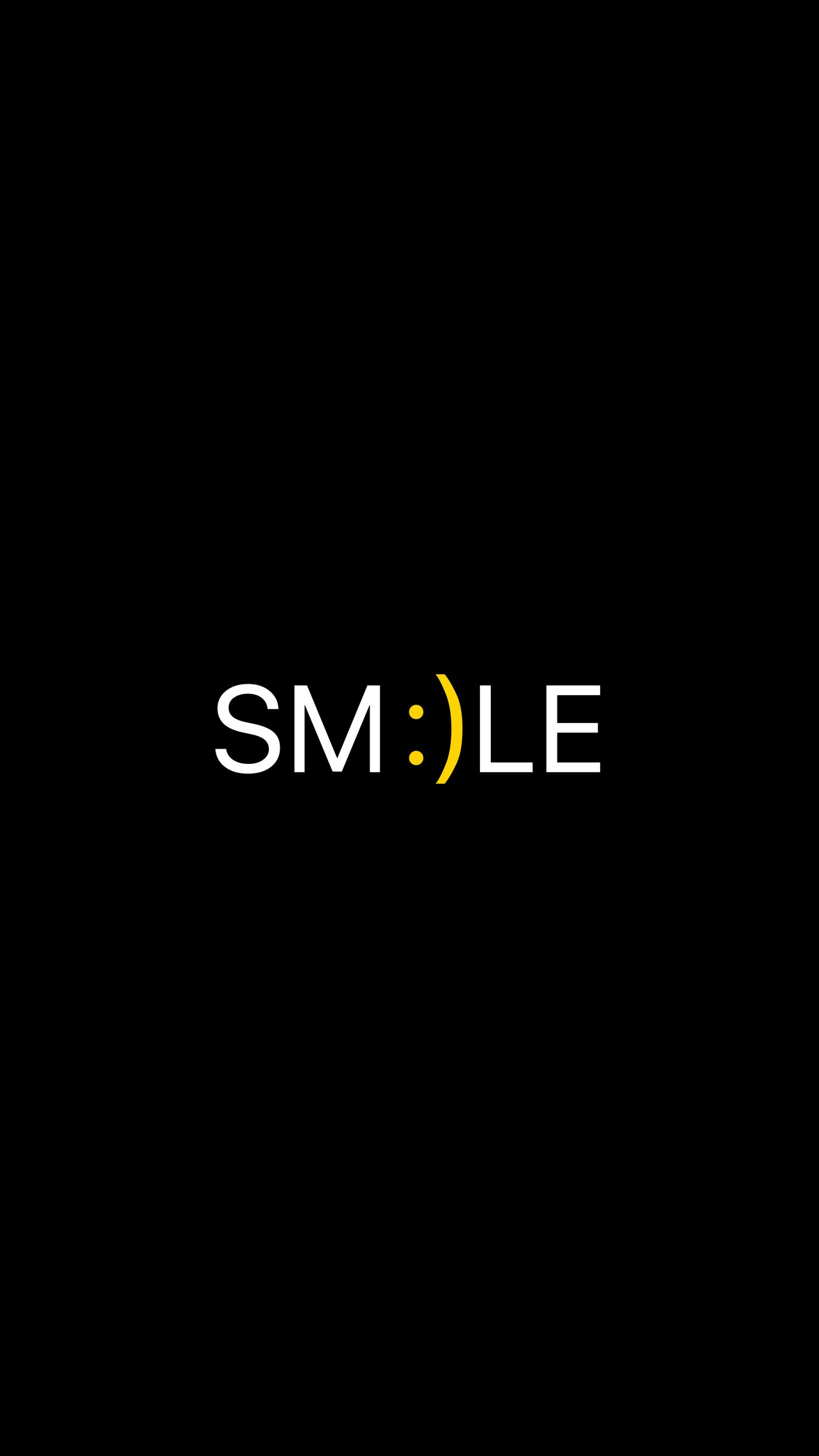 1350x2400 Wallpaper smile, positive, word, cheerful