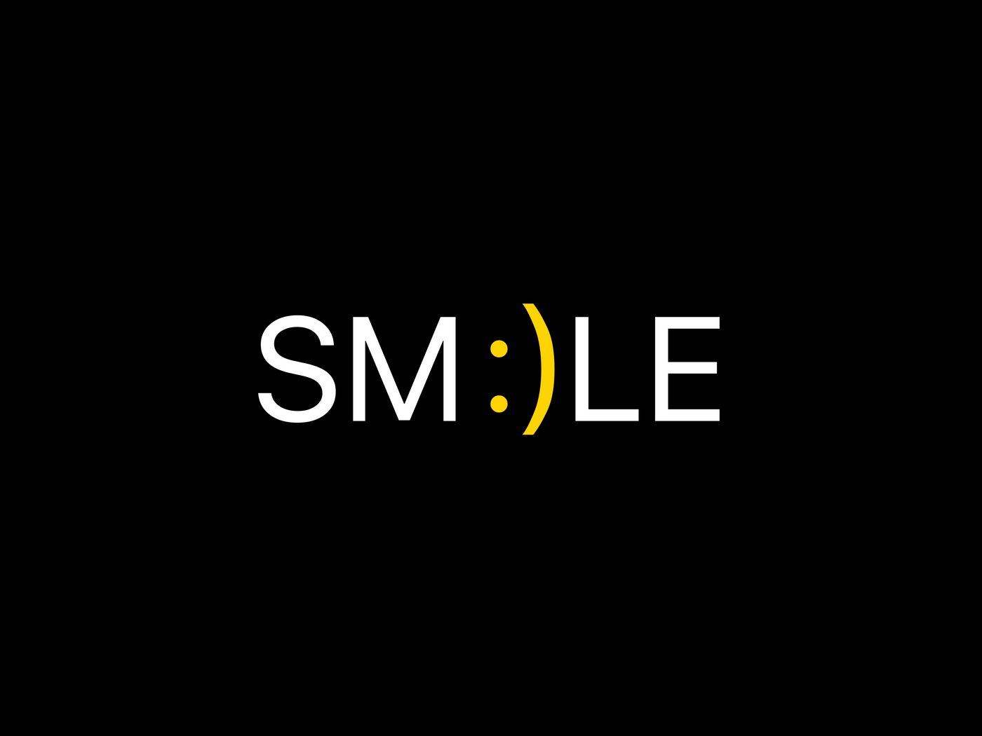 1400x1050 Wallpaper smile, positive, word, cheerful
