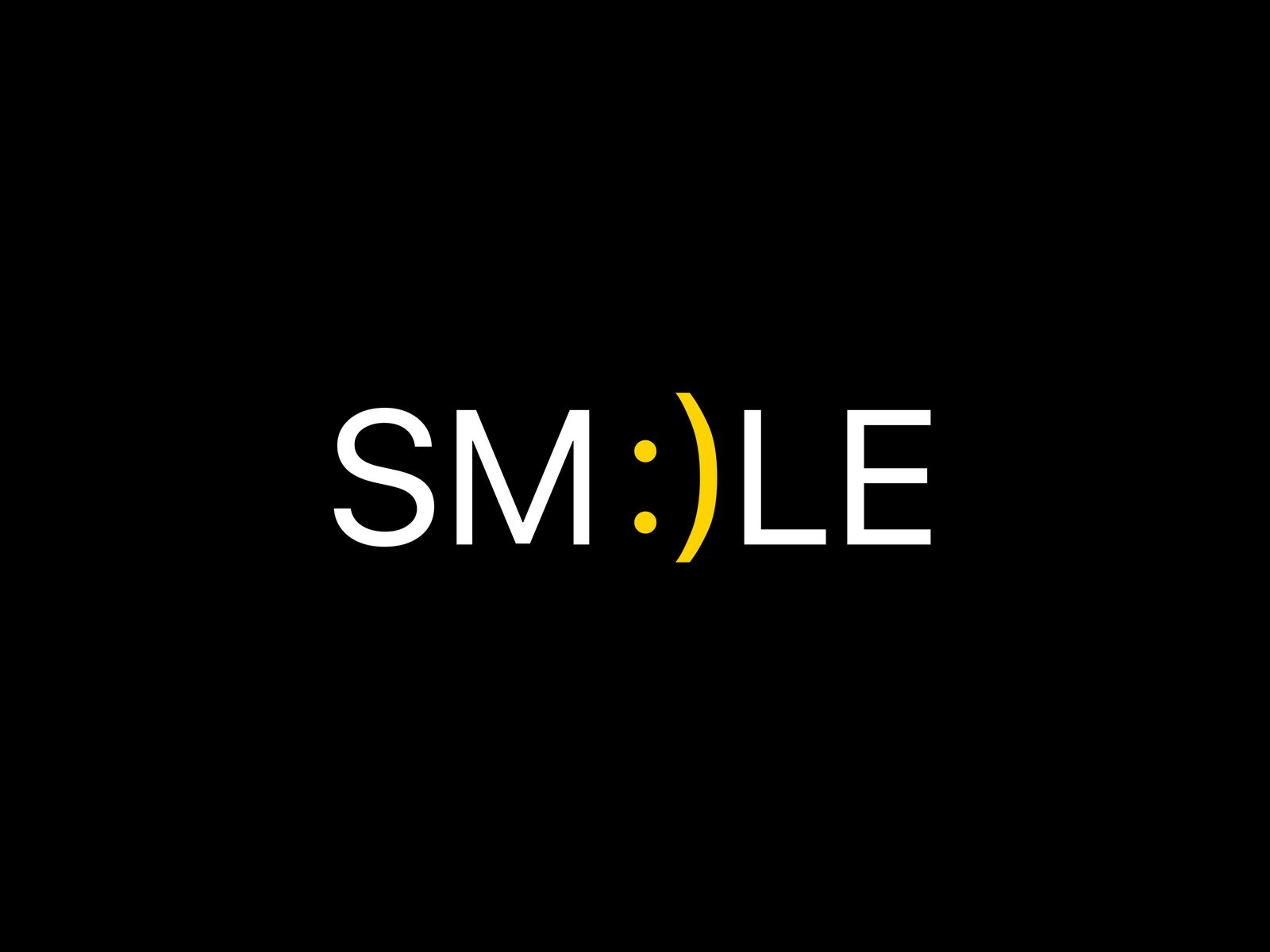 1600x1200 Wallpaper smile, positive, word, cheerful