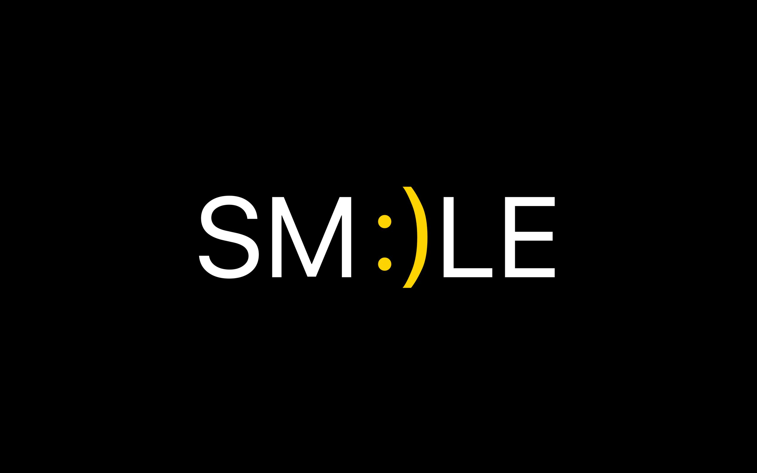 2560x1600 Wallpaper smile, positive, word, cheerful