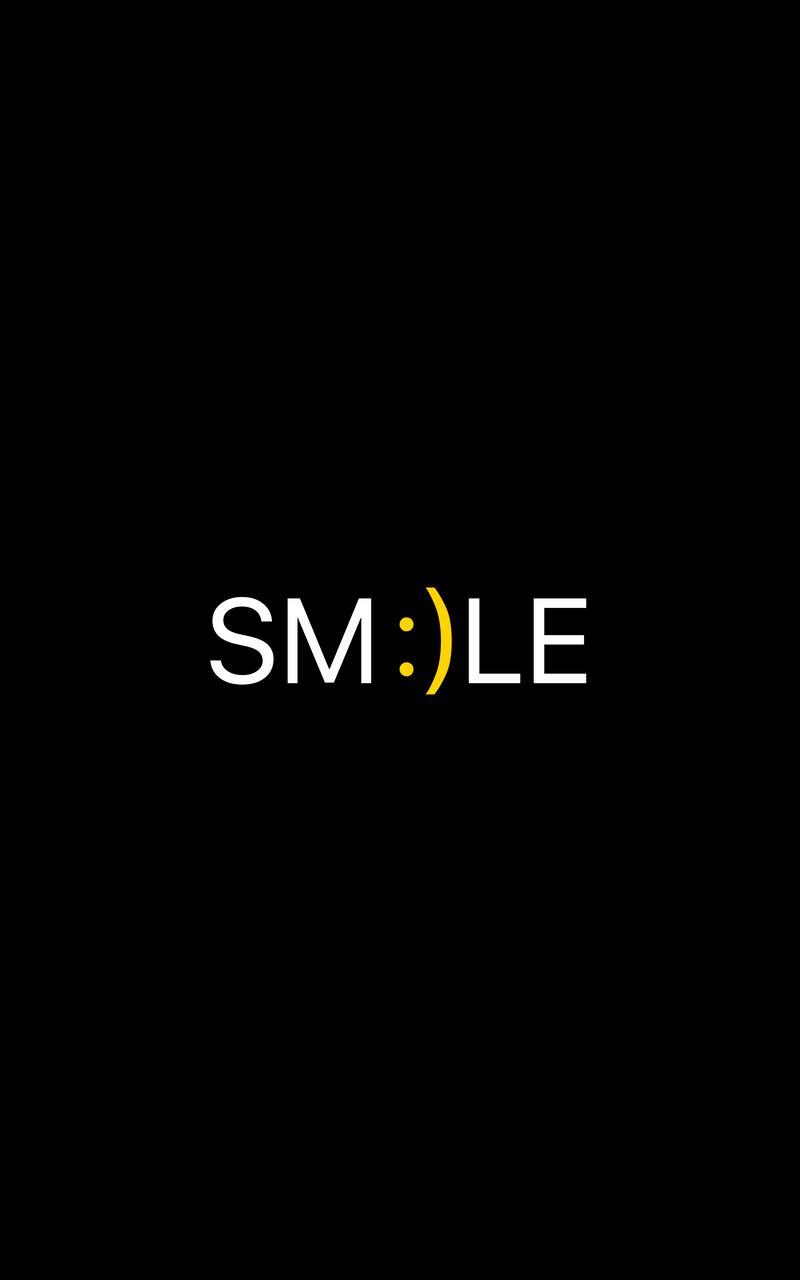 800x1280 Wallpaper smile, positive, word, cheerful