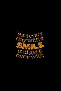 Preview wallpaper smile, quote, phrase, words, yellow