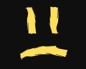 Preview wallpaper smile, smiley, sad, art, vector