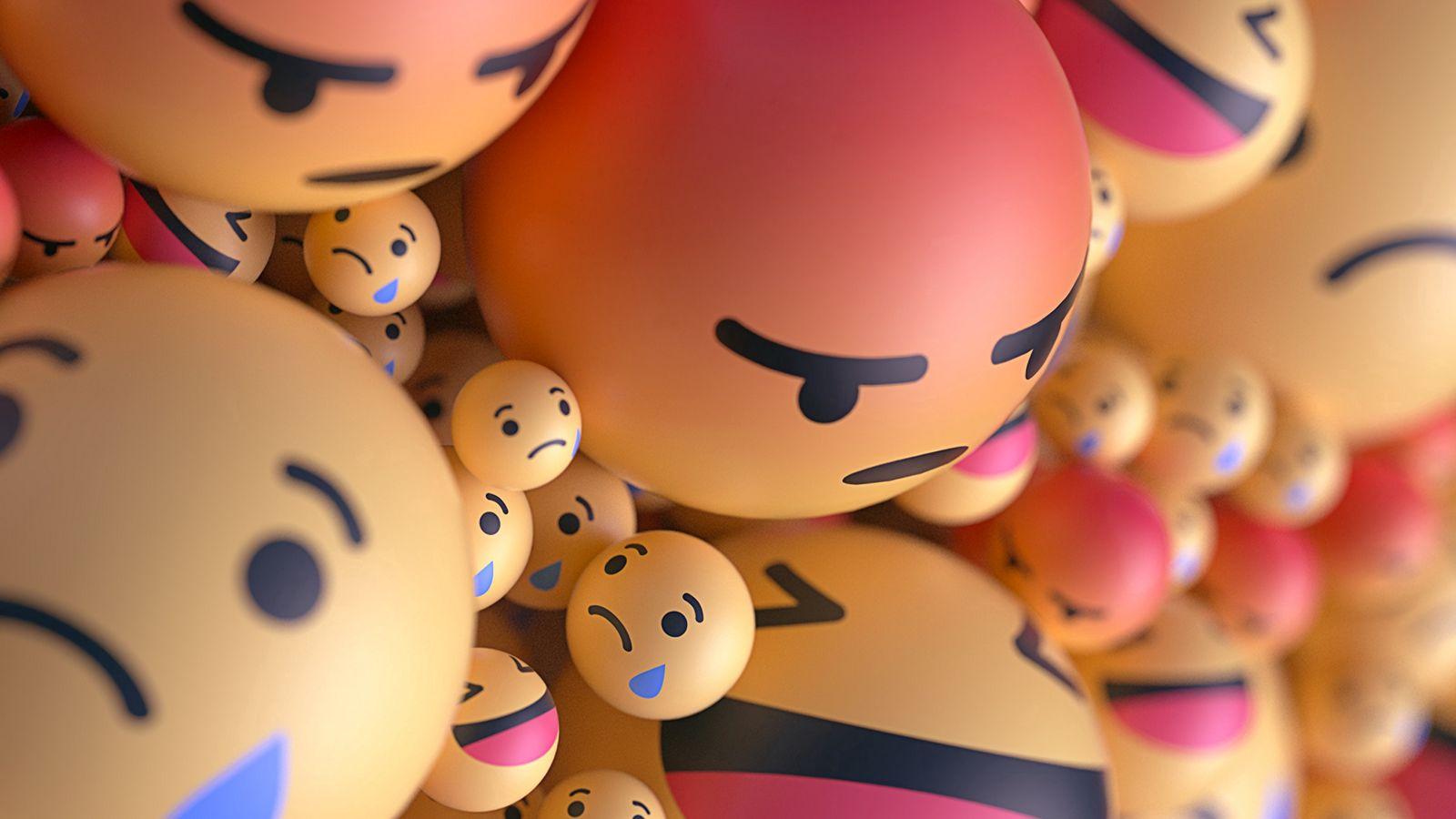 1600x900 Wallpaper smiles, emoticons, balls, 3d, emotions
