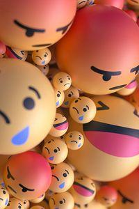 Preview wallpaper smiles, emoticons, balls, 3d, emotions