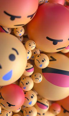 240x400 Wallpaper smiles, emoticons, balls, 3d, emotions