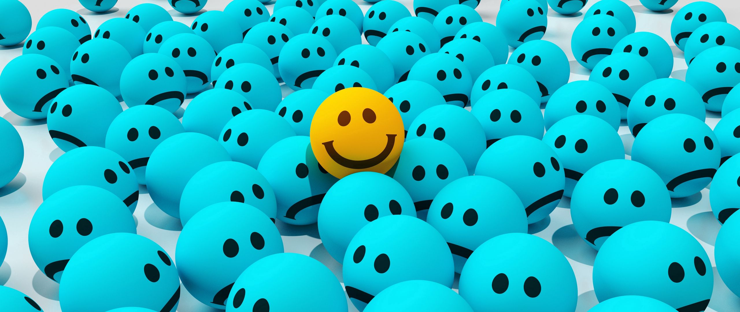2560x1080 Wallpaper smiles, joy, sadness
