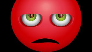 Preview wallpaper smiley, anger, angry, discontent, red