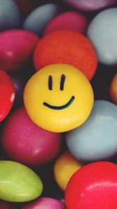 Preview wallpaper smiley, smile, candy, colorful