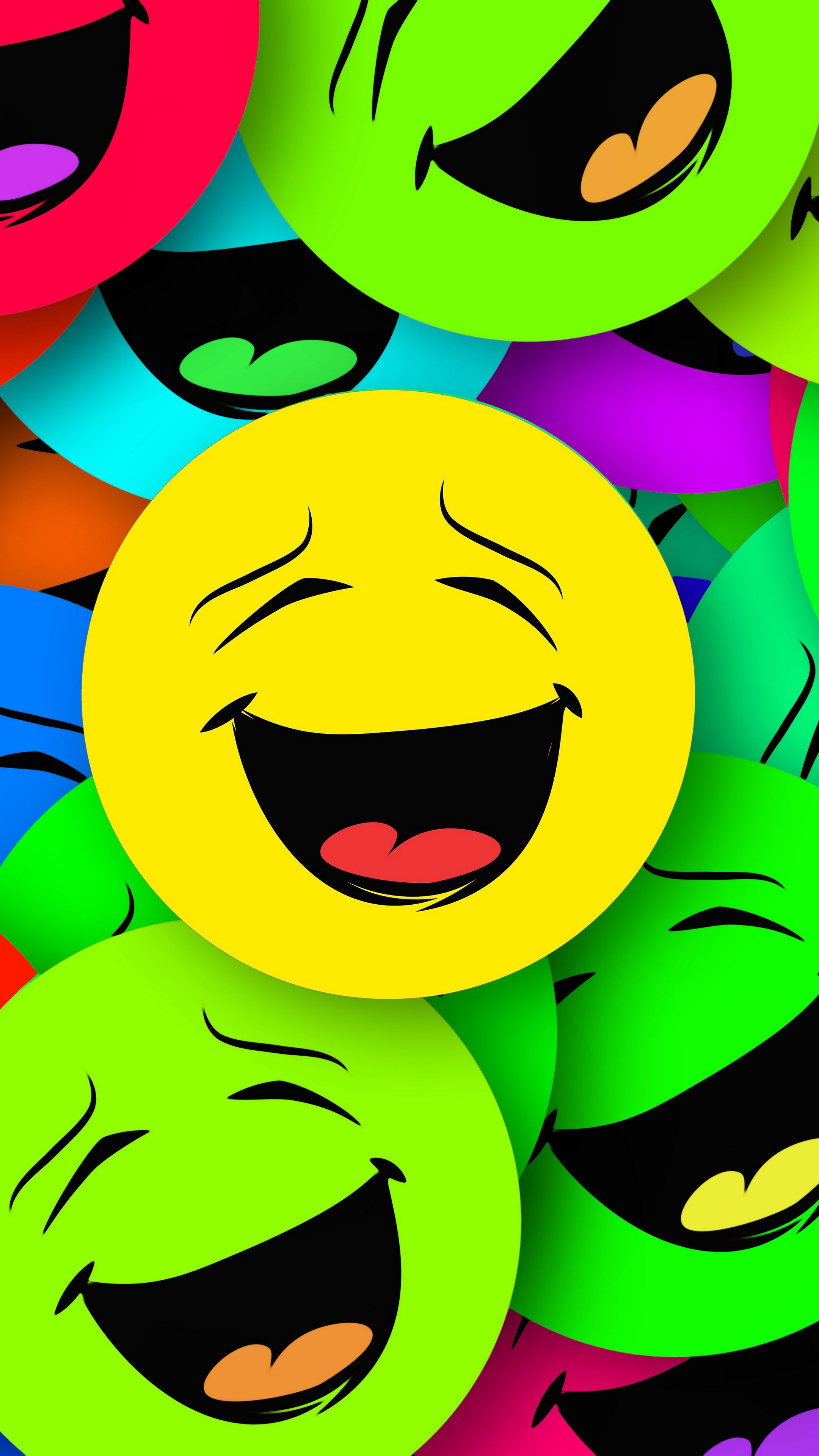 2160x3840 Wallpaper smilies, smiles, colorful, emotion