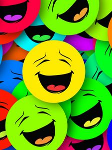 Preview wallpaper smilies, smiles, colorful, emotion