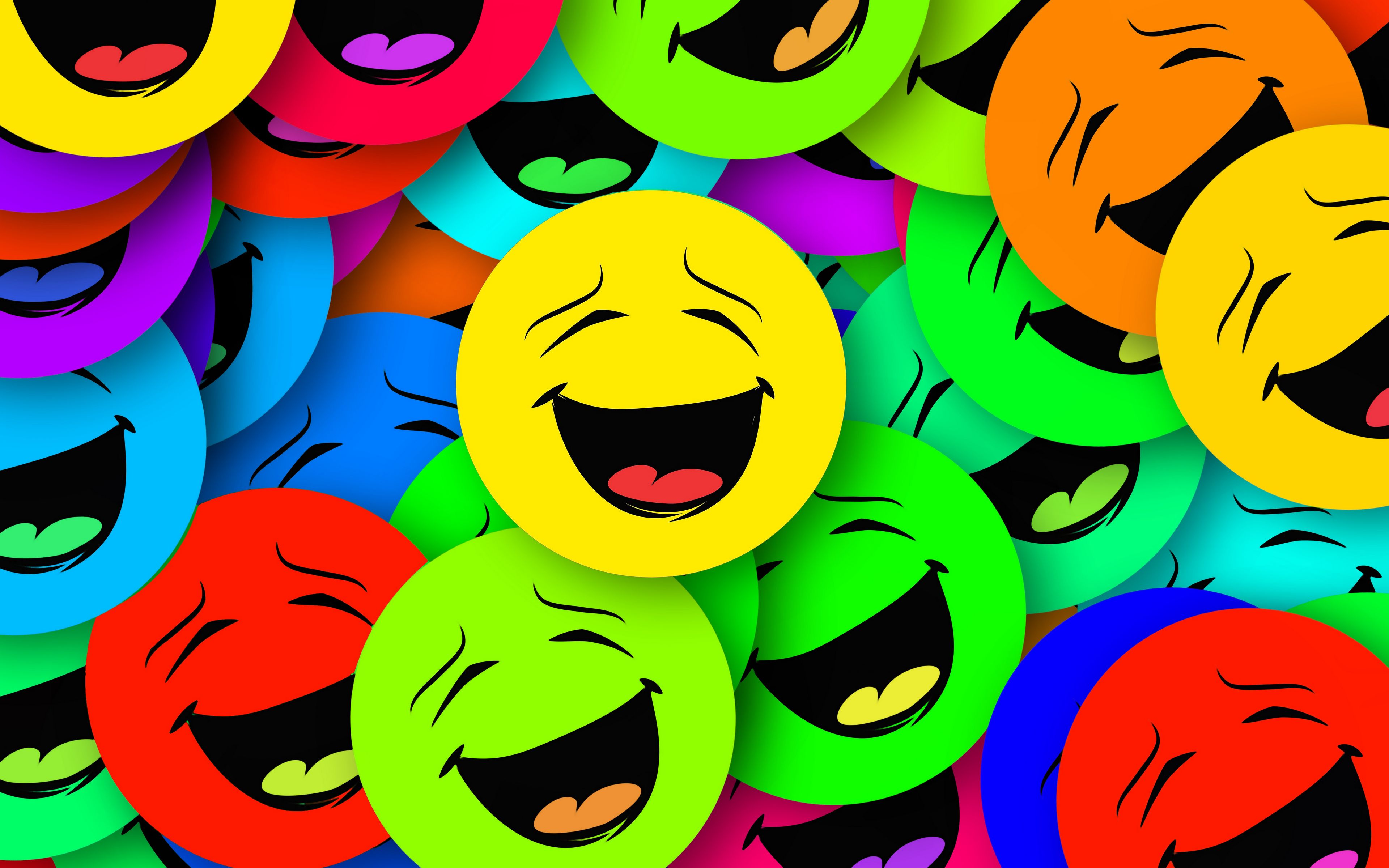 3840x2400 Wallpaper smilies, smiles, colorful, emotion