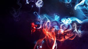 Preview wallpaper smoke, color, background, blurred