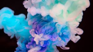 Preview wallpaper smoke, color, clots