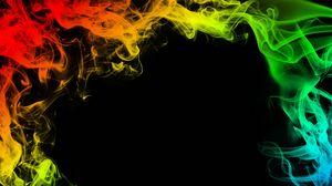 Preview wallpaper smoke, colorful, colored smoke, frame